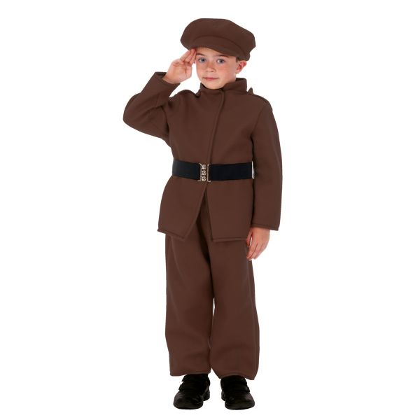 Children's Boys World War One & Two Soldier Fancy Dress Up Costume